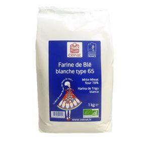 Celnat Farine de blé Blanche T65 bio - 1kg
