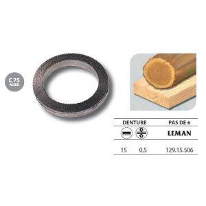Leman 129.15.506 - 1 Rouleau de 50 mètres Lame scie à ruban en acier C75 15x0,5 pas de 6