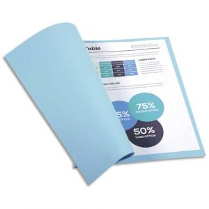 Exacompta Chemises Forever - carte recyclée 220g - bleu clair - 24 x 32 cm - paquet de 100