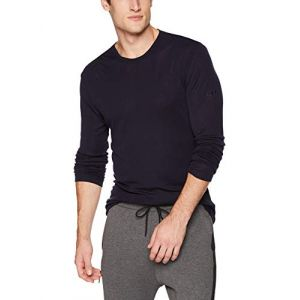 Icebreaker Mens 175 Everyday LS Crewe Midnight Navy Sous-vêtements techniques
