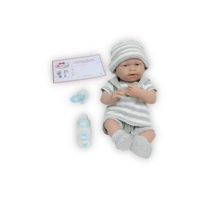 Berenguer Poupon newborn nouveau né sexué garçon avec tenue à rayures