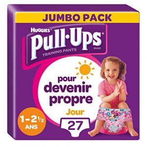 Huggies Culottes D'apprentissage Jour Fille De 1 À 2,5 Ans : 8-17kg Pull-ups - Le Paquet De 27