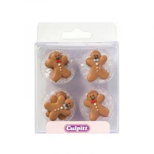 Culpitt Décors en sucre Gingerbread Man (petit biscuit) x12