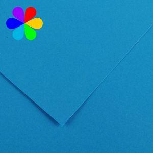 Canson 200040799 - Feuille Iris Vivaldi A4 240g/m², coloris bleu azur 22