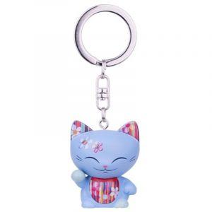 Kontiki Mani Porte clefs Chat porte bonheur Bleu