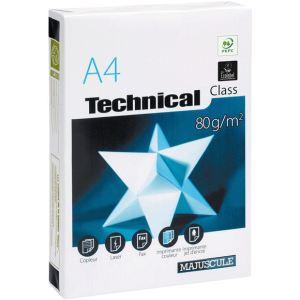 Majuscule 58433TECHNIC - Ramette de 500 feuilles Technical Class A4 coloris blanc 80g