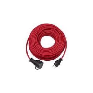 Brennenstuhl H05RR-F 3G1.5 - Rallonge avec support mural 25m rouge