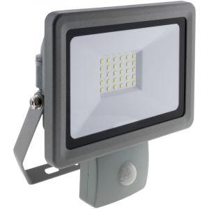 Elexity Projecteur LED 30W Gris avec détecteur - IP44 CE