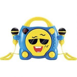 Bigben Interactive Lecteur CD pour enfants My Milo avec microphone, avec fonction karaoké bleu, jaune