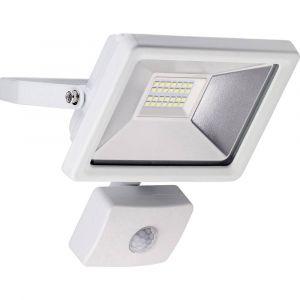 Goobay Projecteur LED extérieur avec détecteur de mouvements blanc lumière du jour 20 W blanc