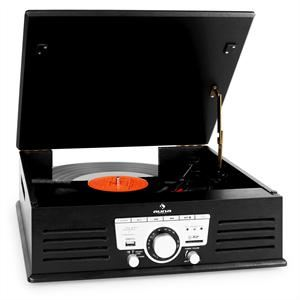 Auna TT-92 - Platine vinyle USB SD AUX radio FM