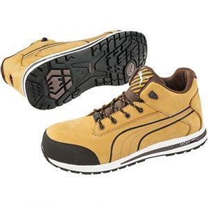 Puma Safety Chaussure de sécurité montante 100% non métaliique Dash Wheat Mid S3 SRC Jaune/Noir 42