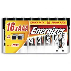 Energizer 16 piles AAA (LR03) alcalines 1,5V