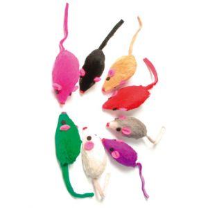 Zolux Lot de 8 souris fourrure pour chat