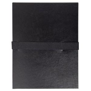 Exacompta 2641E - Chemise à dos extensible balacron, à sangle velcro, coloris noir