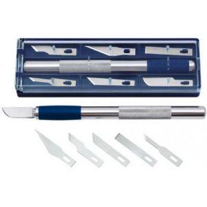 Wedo 78 722 - Couteau de bricolage, longueur: 150 mm, incl. 6 lames