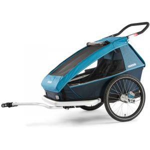 Croozer Remorque vélo Kid Plus for 2 - Bleu Remorques pour enfant