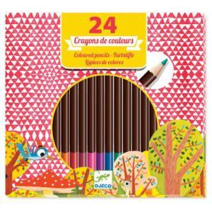Djeco 24 crayons de couleurs