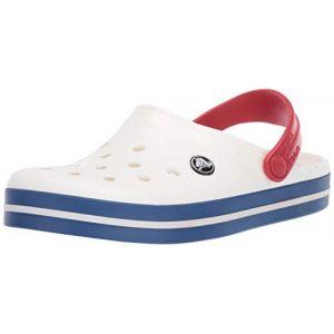 Crocs Crocband, Sabots Mixte Adulte, Blanc (White/Blue Jean), 38-39 EU