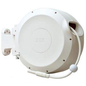 Zee Tuyau d´arrosage Mirtoon 30m / Enrouleur automatique - Pistolet Blanc en Matière plastique