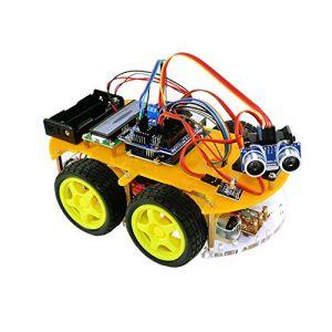 Tbs TBS2654(bluetooth) Kit de montage complet Arduino Voiture Robot 4WD intelligente avec détecteurs d%u2019obstacles à ultrason et infrarouge