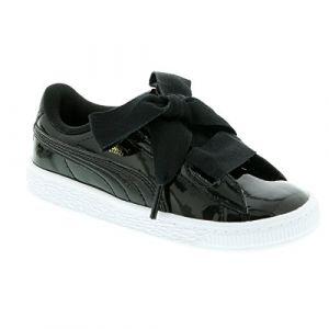Image de Puma Basket Heart Patent Inf, Sneakers Basses Bébé Fille, Noir Black Black 1, 27 EU