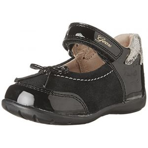 Geox B Kaytan A, Chaussures Bébé Marche Fille, Noir (Black