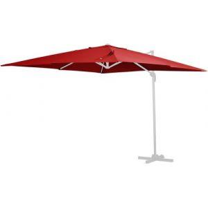 """Habitat et Jardin Toile pour parasol jardin déporté """"Sun 4"""" - 3 x 4 m - Rouge"""