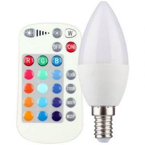 Müller Licht AMPOULE LED E14 400350 EN FORME DE BOUGIE 5 W = 25 W RVBB (Ø X L) 37 MM X 103 MM EEC: CLASSE A A COULEUR CH