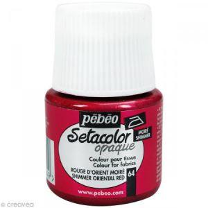 Pebeo Peinture pour tissu - Setacolor - Rouge Orient Moiré - 45 ml