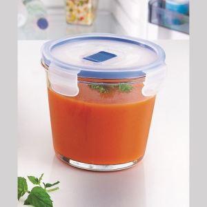 Luminarc Boîte de conservation ronde Pure box active en verre avec valve (84 cl)