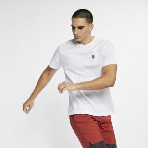 Nike Tee-shirt de tennis Court pour Homme - Blanc - Taille 2XL - Male