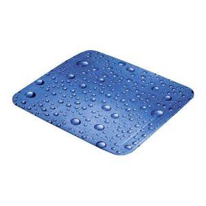 Kleine Wolke Tapis de douche, gouttes d'eau bleu
