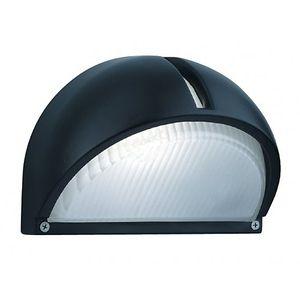 Searchlight Applique 22 cm Outdoor & Porch - Fonte d'aluminium noire et verre givré