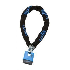 Luma Babycare LUMA ENDURO Chaîne 48/110 Bleu - LUMA ENDURO Chaîne 48/110 Bleu - Mécanisme de verrouillage protégé par disques antiperçage avec 7 pins - Chaîne en 10 mm de diamètre - Composition : acier et zamak - Vendue avec 2 clés.