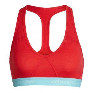 Icebreaker Women´s Sprite Racerback Bra - Sous-vêtements mérinos taille XS, rouge