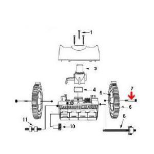 Procopi 1021011 - Vis d'axe de roue de robot Victor