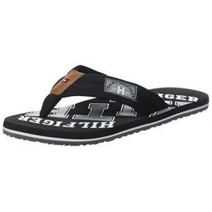 Tommy Hilfiger Essential Th Beach Sandal, Tongs Homme, Noir (Black 990), 44 EU