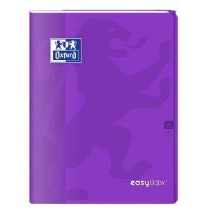 Oxford 400100063 EasyBook Cahier agrafé 24 x 32 cm 96 pages 90 g grands carreaux seyès Violet