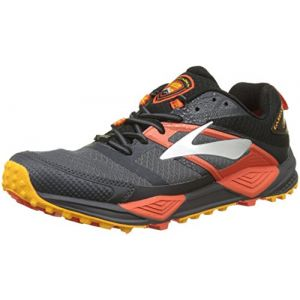 Brooks Cascadia 12 GTX, Chaussures de Trail Homme, Multicolore (Black/Ebony/Cherrytomato 1d047), 42.5 EU