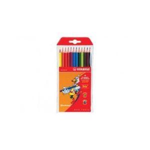 Stabilo 12 Crayons de couleur Trio assortis