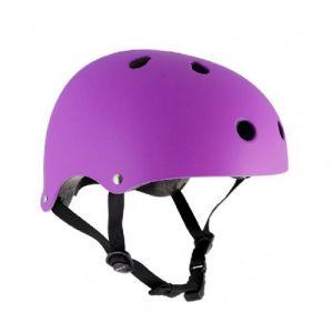 SFR Skates Essentials Casque Matt fluorescent Violet du Skate/BMX/Trotinette XXS-XS