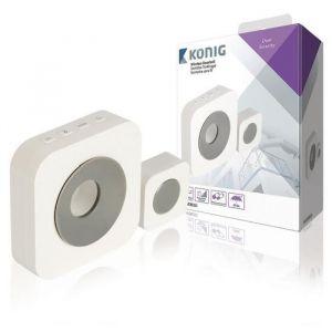 König SAS-WDB201 - Batterie pour sonnette sans fil 90 dB Blanc / Gris
