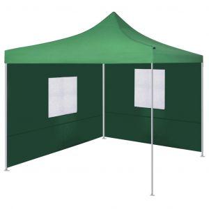 VidaXL Tente pliable avec 2 parois 3 x 3 m Vert