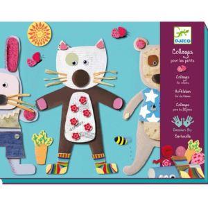 Djeco Collages pour les petits : Chats