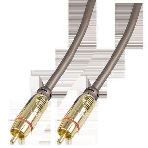 Lindy 37899 - Câble audio / vidéo RCA GOLD 5m