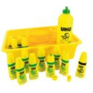 UHU 12 Flacons Twist & Glue avec recharge