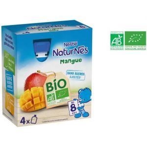 Nestlé Naturnes Bio Gourdes mangue 4 x 90 g - dès 8 mois