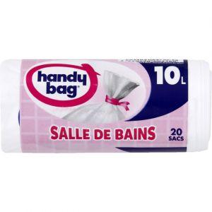 Handy Bag Sacs poubelle spécial salle de bain, anti-fuite, 10L - Les 20 sacs