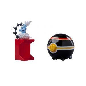 Tomy Catch'N Train Pokeball 5 cm Fulguris / Luxe Ball - Figurine Pokemon Black and White